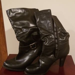 Heeled boots. Size 10.